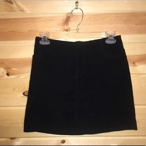 Vintage 90s Velour Mini Skirt Sz 3